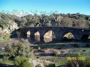 panorámica del Puente Mocho en invierno