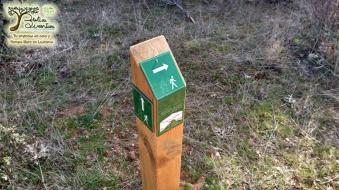11 postes señalización sendero tonda