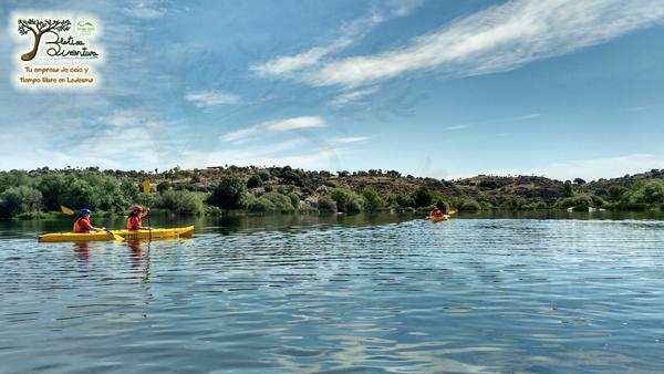 excursión de piraguas en Ledesma